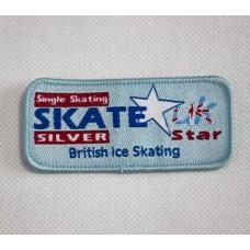 Skate Star Singles Badge Award - Silver