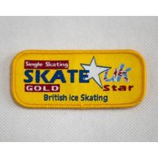 Skate Star Singles Badge Award - Gold