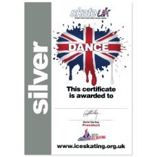 Skate Stars Dance Certificate - Silver