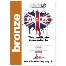 Skate Stars Singles Certificate - Bronze