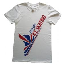 British Ice Skating Adult T-Shirt - White