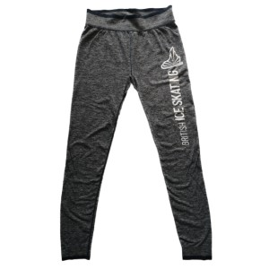 British Ice Skating Adult Leggings - Grey