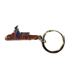 British Ice Skating Keyring Enamel with Glitter Coating